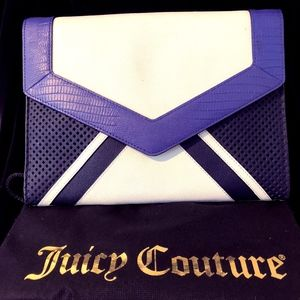 AUTHENTIC JUICY COUTURE ENVELOPE CLUTCH
